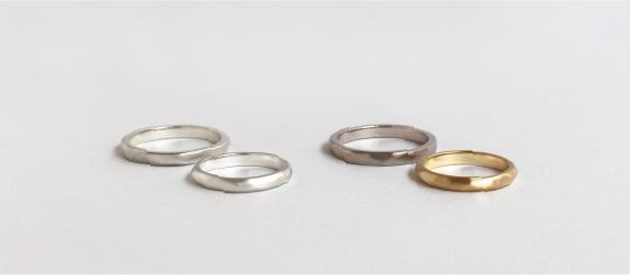 結婚指輪を試すこと